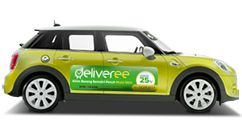 deliveree on the car