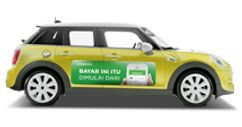 tokopedia on the car